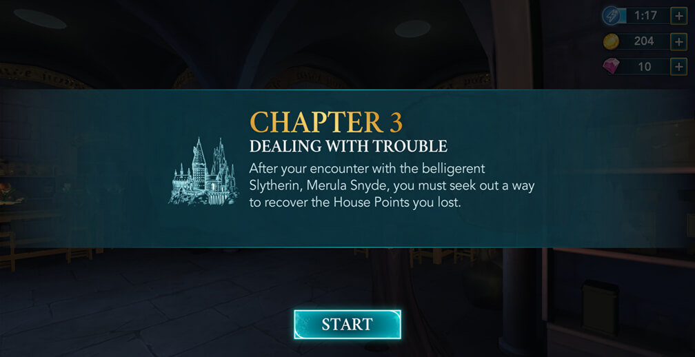 Chapter 3, Year 1 - Harry Potter Hogwarts Mystery Walkthrough
