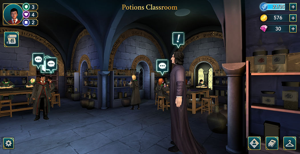 Chapter 4, Year 1 - Harry Potter Hogwarts Mystery Walkthrough