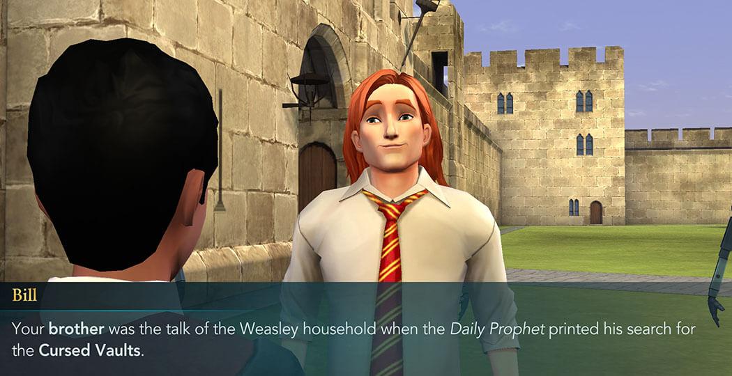Bill Weasley Character - Harry Potter Hogwarts Mystery