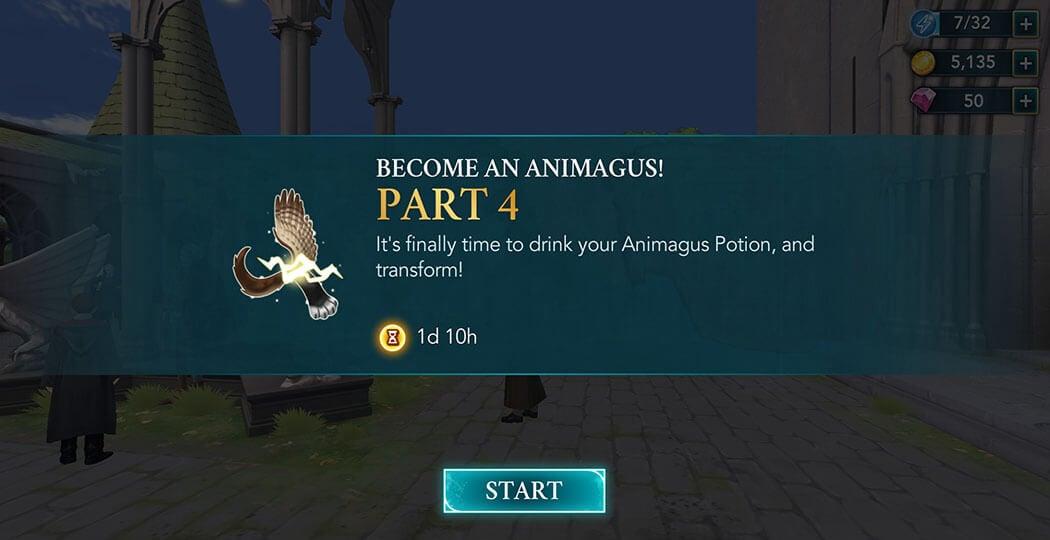 Part 4 Animagus Adventure - Harry Potter Hogwarts Mystery
