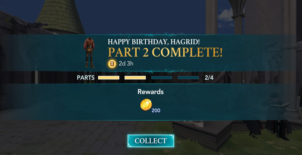 Hagrid's birthday party hogwarts mystery walkthrough