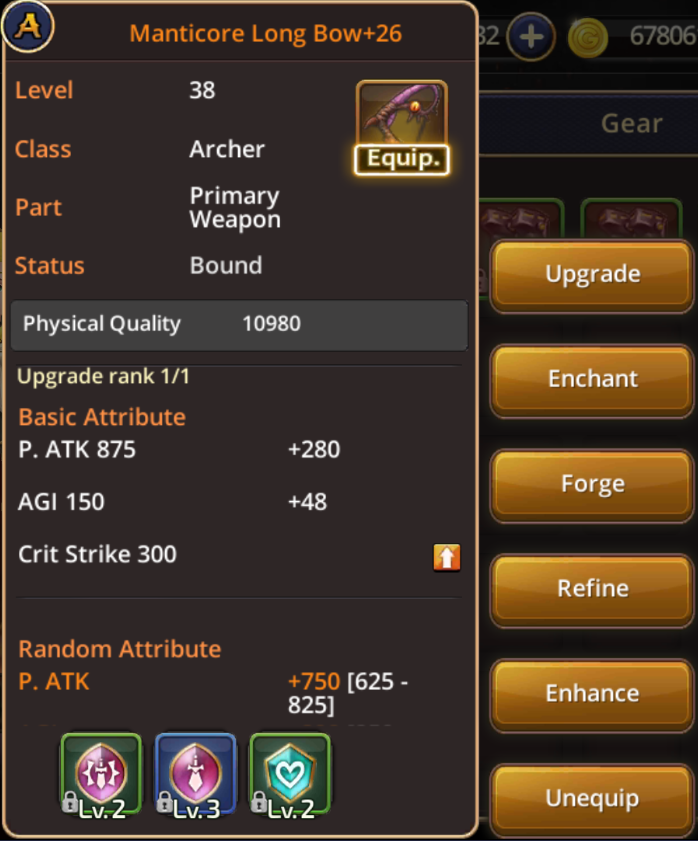 Gear Guide - Dragon Nest M