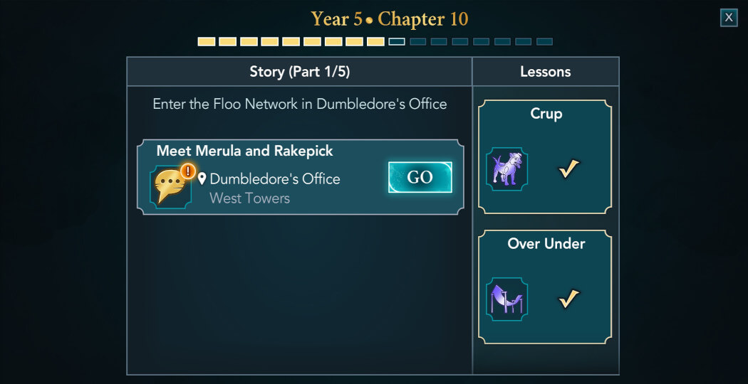 Harry Potter Hogwarts Mystery Walkthrough Year 5 Chapter 10