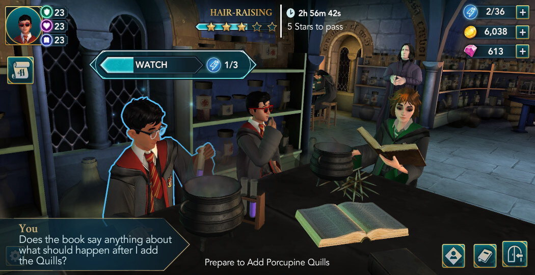 Harry Potter Hogwarts Mystery Walkthrough Year 5 Chapter 2