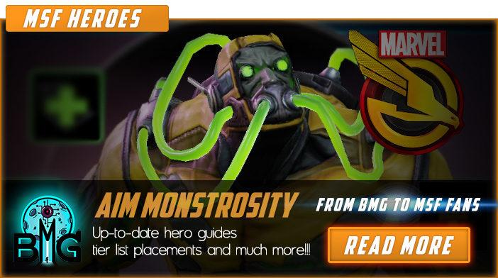 marvel strike force aim monstrosity