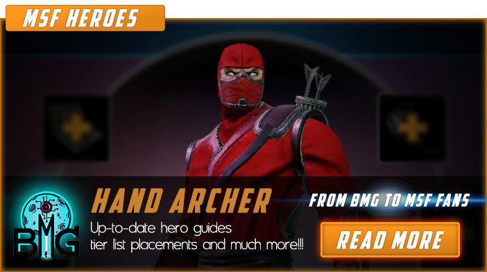 marvel strike force hand archer