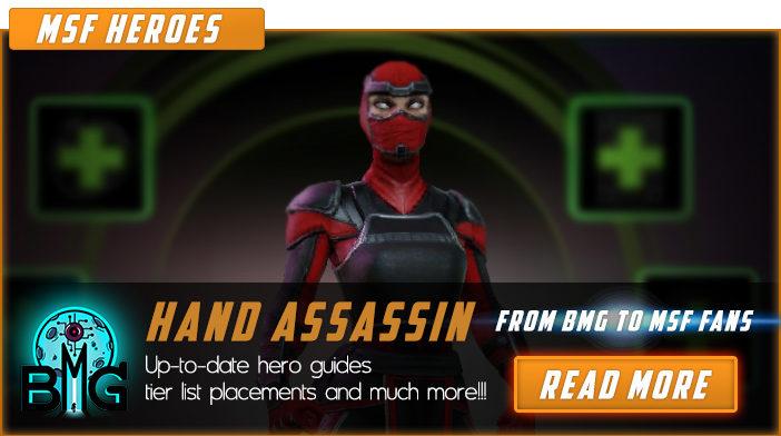 marvel strike force hand assassin