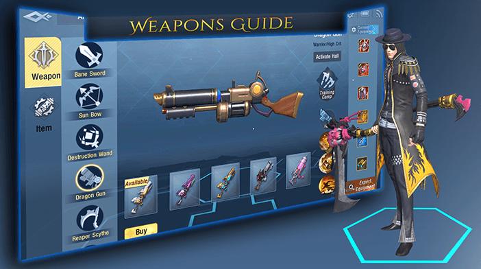 Survival Heroes Weapons