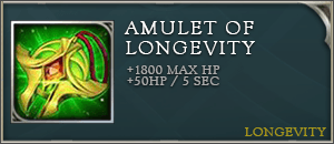 Arena of valor item amulet of longevity