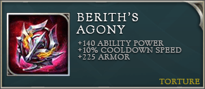 Arena of valor items beriths agony