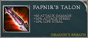 Arena of valor items fafnirs talon