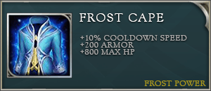 Arena of valor item frost cape