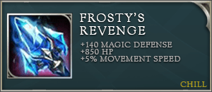 Arena of valor items frostys revenge