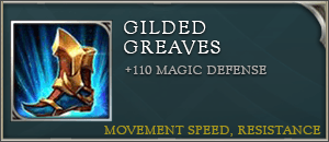 Arena of valor item gilded greaves