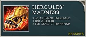 arena of valor item hercules' madness
