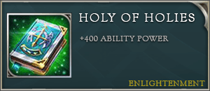 Arena of valor items holy of holies