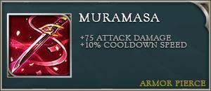 Arena of valor item muramasa