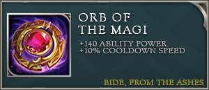 Arena of valor items orb of the magi