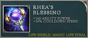 Arena of valor items rheas blessing