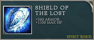 Arena of valor items shield of the lost