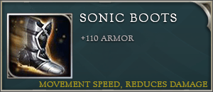 Arena of valor items sonic boots