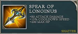 Arena of valor item spear of longinus