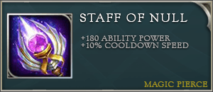 Arena of valor item staff of null