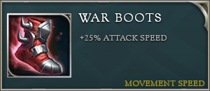 Arena of valor items war boots