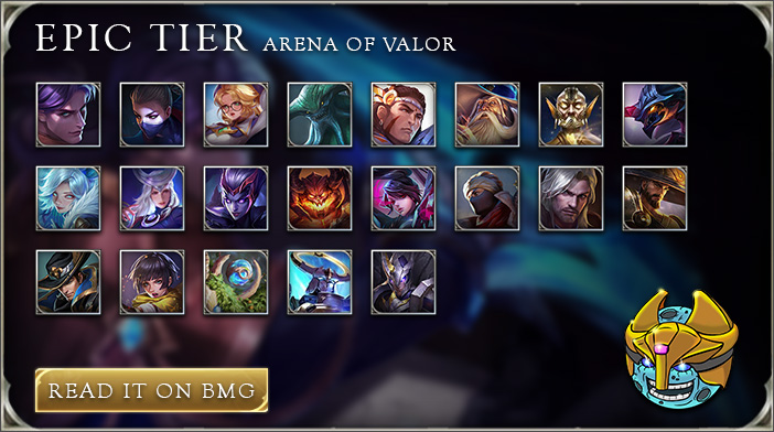 arena of valor tier list epic