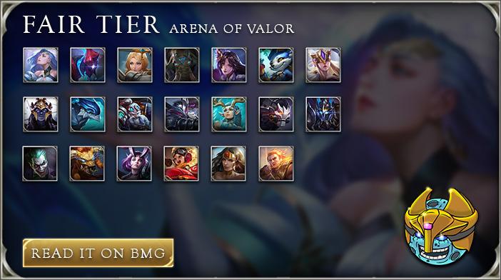 arena of valor tier list fair