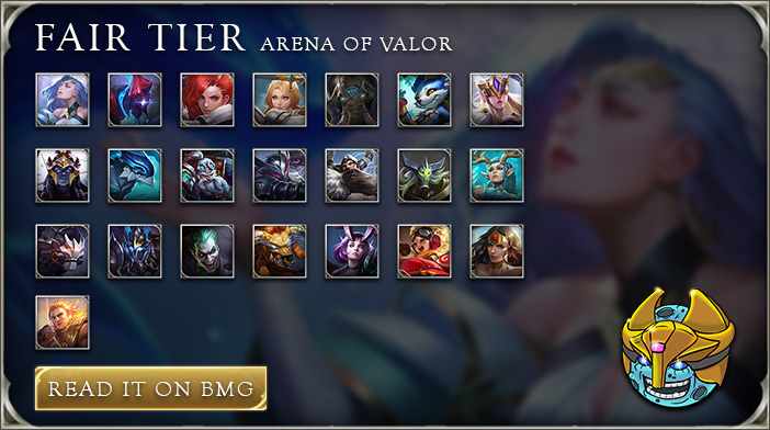 arena of valor tier list fair tier