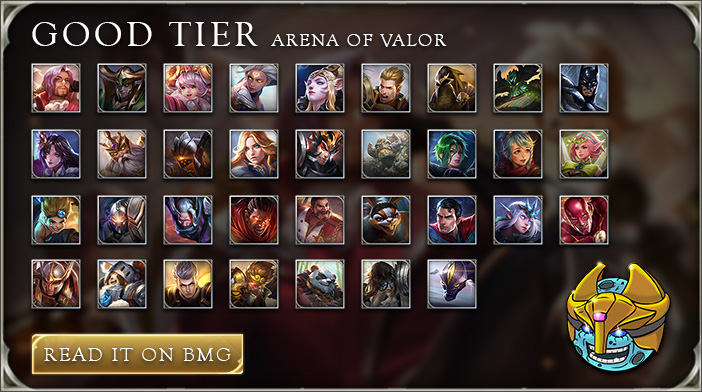 arena of valor tier list good tier champs