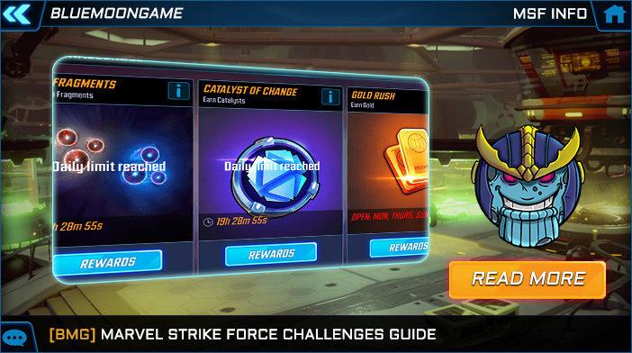 marvel strike force challenges guide
