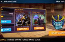 marvel strike force raids guide
