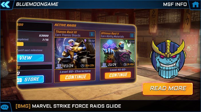 marvel strike force raids guide