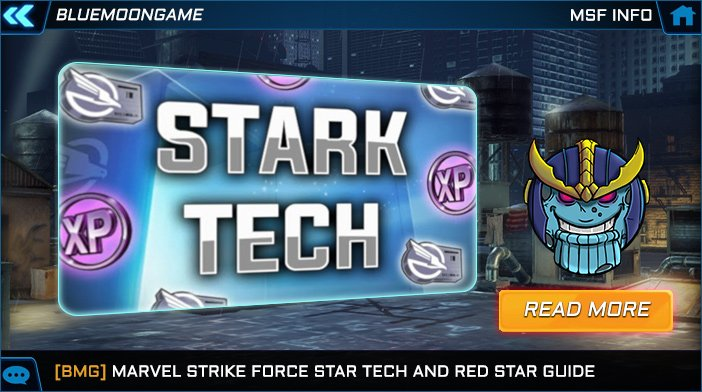 MSF Stark Tech and Red Star Promotions Guide