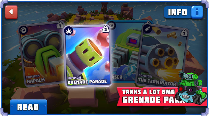 tanks a lot grenade parade cannon