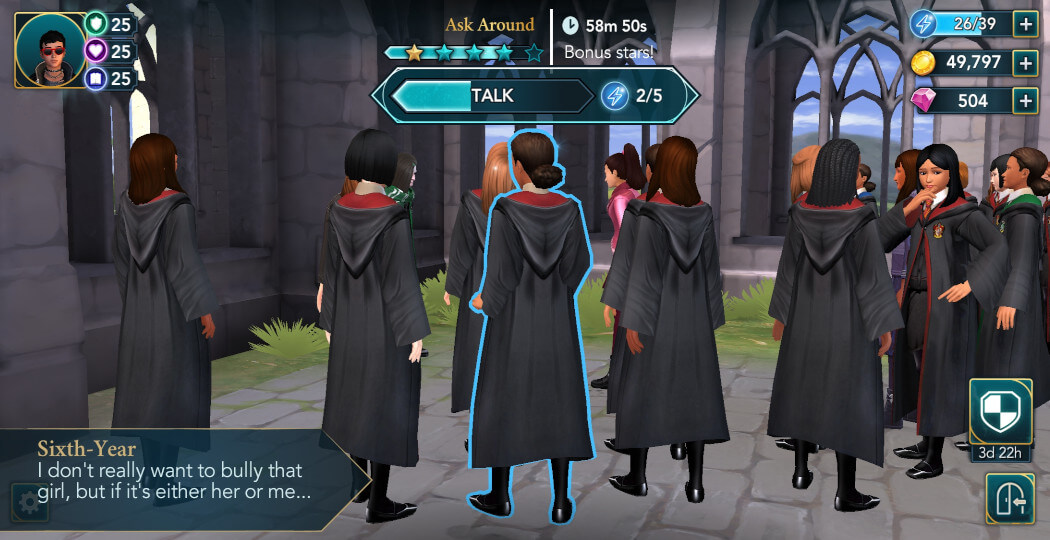 Harry Potter Hogwarts Mystery Walkthrough Year 5 Crushed Side Quest