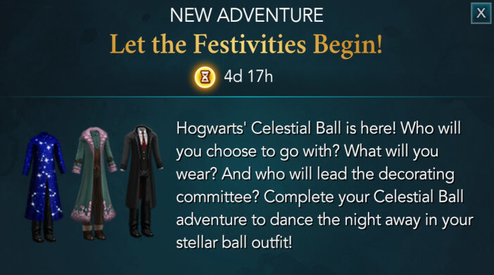 Harry Potter Hogwarts Mystery Walkthrough Let The Festivities Begin Adventure