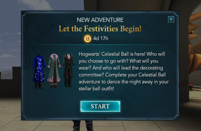 Let The Festivities Begin Adventure - Harry Potter Hogwarts Mystery