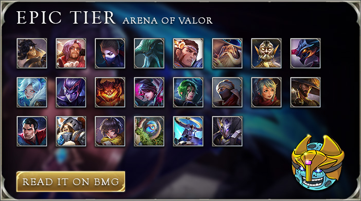 arena of valor tier list epic