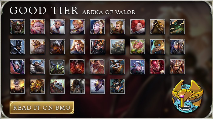 arena of valor tier list good