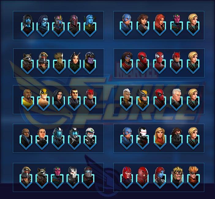 marvel strike force tier list raid