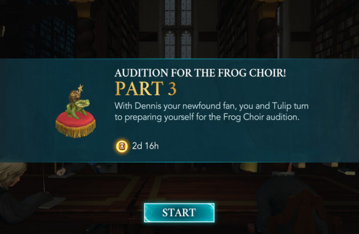 Harry Potter Hogwarts Mystery Walkthrough Audition for the Frog Choir Part 3