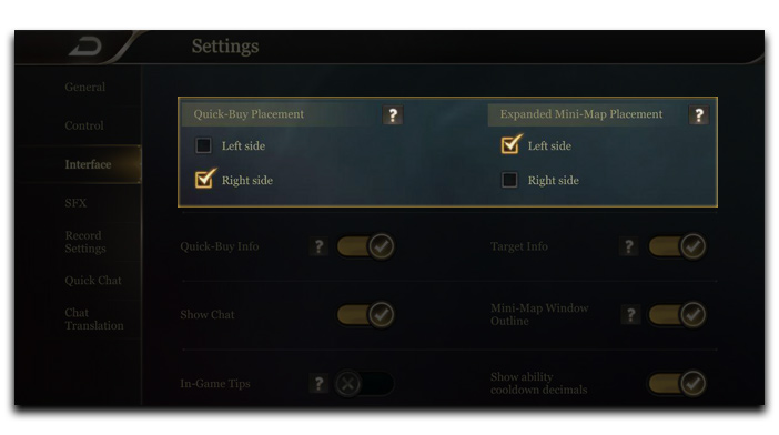Arena of Valor settings trick