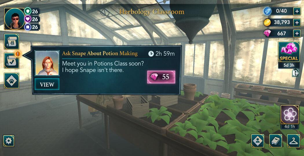 Harry Potter Hogwarts Mystery Walkthrough Career Advice Side Quest