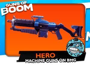 Guns of Boom Hero Machine Gun