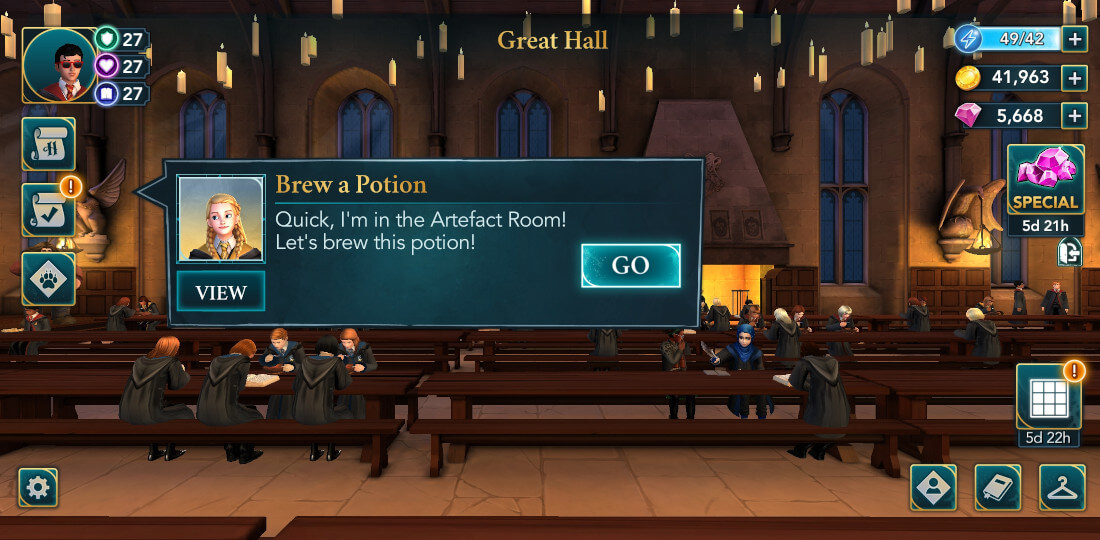 Harry Potter Hogwarts Mystery Walkthrough Year 2 Scaredy Cats Side Quest