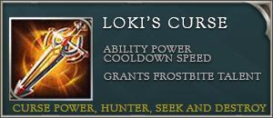Arena of valor item lokis curse