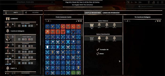 Forged of Blood Castle Inventory